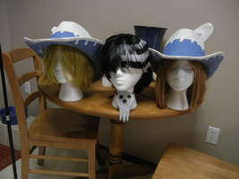 Kid, Liz and Patty Wigs and Hats by fluffpuffgerbil
