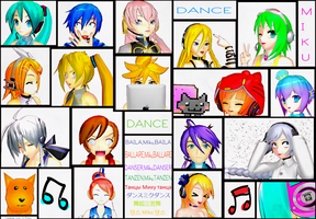 Dance Miku Dance Collab-Current Characters by superspychic