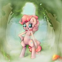 Pinkie in the everfree by AngelWing314