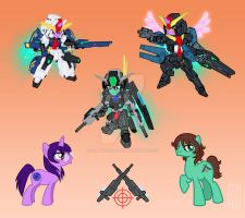 Gundam 00 Ponies 2- Tieria and Lyle by SapphireGamgee