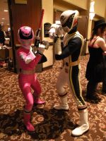omega ranger and spd pink ranger by pixshunary