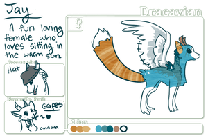 Dracavian Jay by claireone
