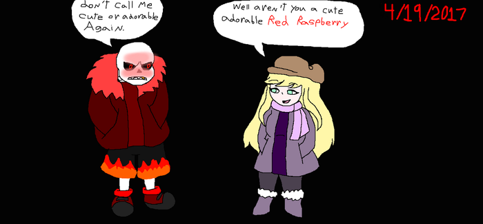 Novella Calls Fell Sans A Red Raspberry by Elzathehedgehog
