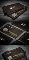 Corporate Line Business Card by calwincalwin