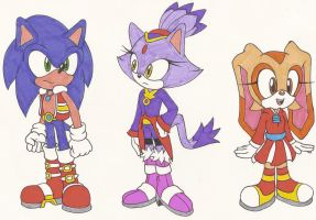 Sonic Alternate Costumes by Sonicguru