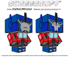 Cubeecraft - Optimus Prime 'TF- Prime' by CyberDrone