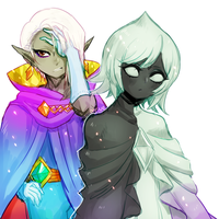hyrule warriors -- fi and ghirahim by onisuu