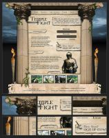 "Webdesign - ""Temple Fight"" by CybertronicStudios"
