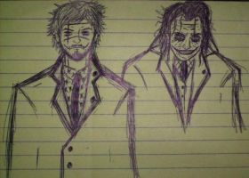 Kakihara and Joker by escapeinsanity