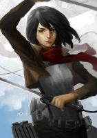 Project Pin Up 01|Mikasa Ackerman by hifarry