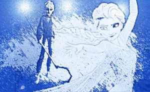 Elsa and Jack Frost by StalkerAE