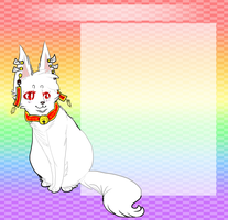 1/2 . rainbow kitsune . by coffeesCup
