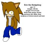 Eric the Hedgehog by e-rock95