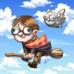 harry potter and hedwig by nedesem
