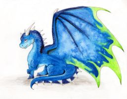 cute blue dragon by MiaErrianIrielynn