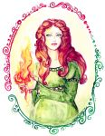 Brigit, Lady of Imbolc by Crisantemo
