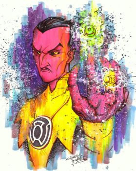 marker : Sinestro by KidNotorious