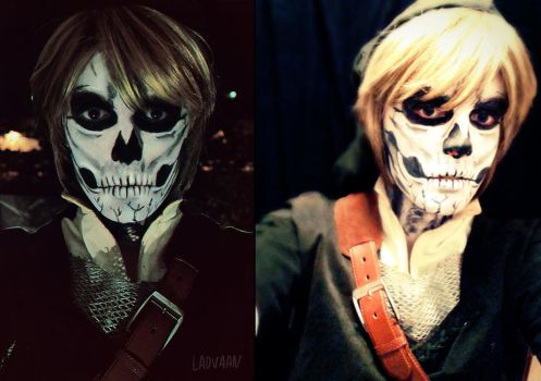 Link Cosplay - Skull Make up by Laovaan