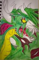 Zombie Dragon  by puppykittons