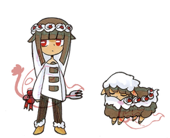 [closed] Adoptable Sheep: black forest cake by Zack-Of-Spades