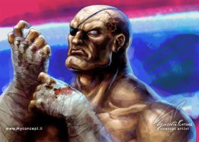 Sagat Street Fighter Fan art by giaci78