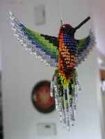 Beaded Hummingbird by ZenzicBit