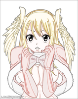 Lucy Heartfilia Christmas Angel (Luminous Color) by lolSmokey