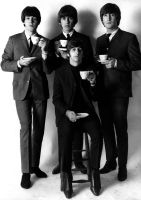 The Beatles drinking tea by chaka-boom
