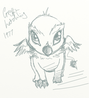 Gryffin hatchling by InTheAier