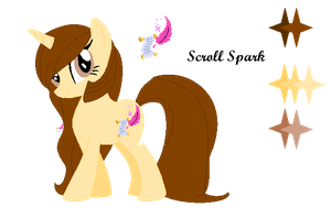 Scroll Spark Ponysona Reference Sheet by oneofdemboys