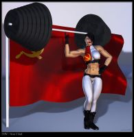 Iron Clad Soviet Superwoman by Soviet-Superwoman