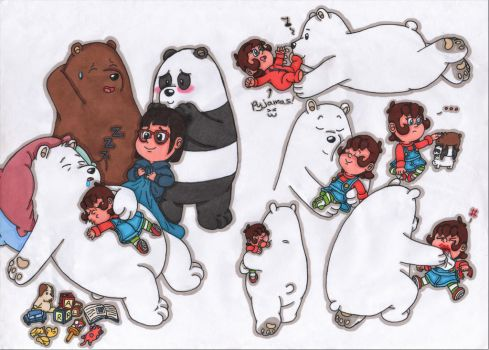 More ice bear and Jessie by JessicaMario