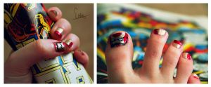 Iron Man Nails by below-the-surf