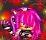 flora the hedgehog :art trade: by AmethystPink