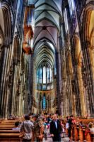 Cologne Cathedral Inside - HDR by MajorDisaster