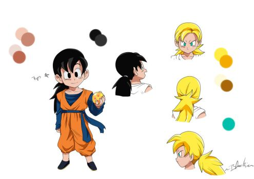 Goyen model sheet (Buu Saga) by LenneWolf