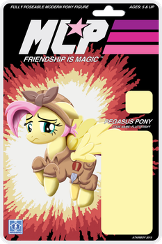MLP Action Figure Label Cover - Fluttershy. by Atariboy2600