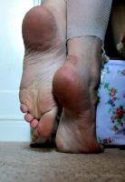 Flowers, Rips and Feet by Foxy-Feet