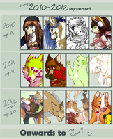2010-2012 so far improvement meme by Kiboku