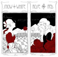 Snow White and Rose Red by savivi