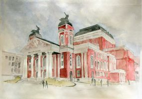 National Theatre Ivan Vazov, Sofia by mirroslaff