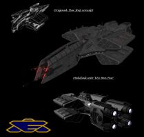 Babylon 5 Earthforce Destroyer EAS Ben-Hur by calamitySi