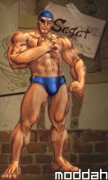 SFTK PC Sagat Alt. Costume backport from xbox360 by moddah