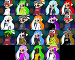 All My Characters (so far) by DarkMario2