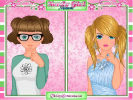 Nerdy Girl Makeover Bubbles by knuclesfan4556