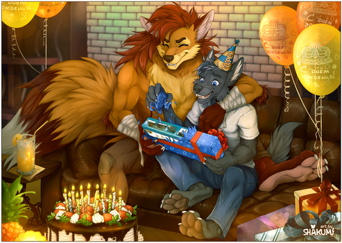 Commission from Zyf for Cooper Birthday by SHAKUMl