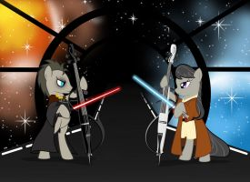 Octavia and Whooves CELLO WAR by artist-apprentice587