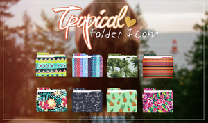 Tropical Folder Icons by PrettyLadySwag