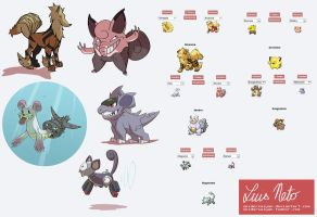 Pokemon Fusion Doodles 5 by Spidersaiyan