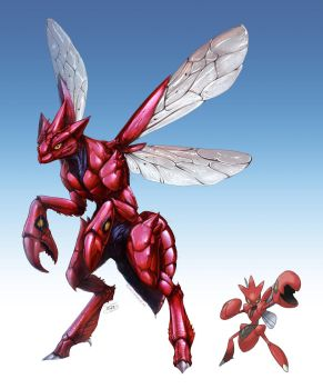 Realistic Pokemon: Scizor by ReneCampbellArt